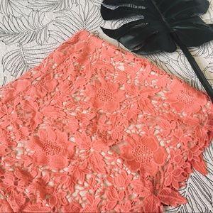 NWT LOFT • Lace Overlay Skirt